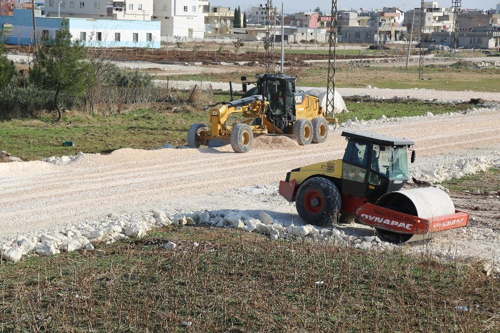 Haliliye'de yol yapım çalışmaları