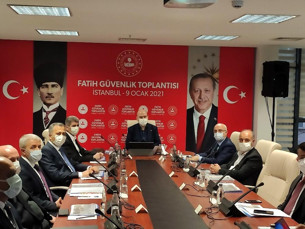 İçişleri Bakanı Soylu Fatih Güvenlik Toplantısına katıldı