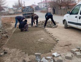 Iğdır'da bozuk parke taşları onarılıyor