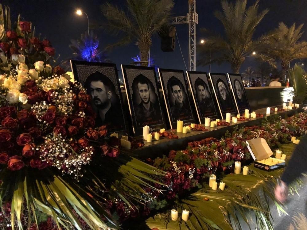 İranlı General Süleymani ve El-Mühendis için Bağdat'ta anma töreni