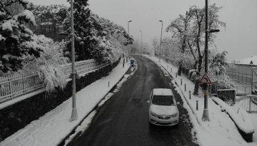 İstanbul'da yağan kar havadan böyle görüntülendi