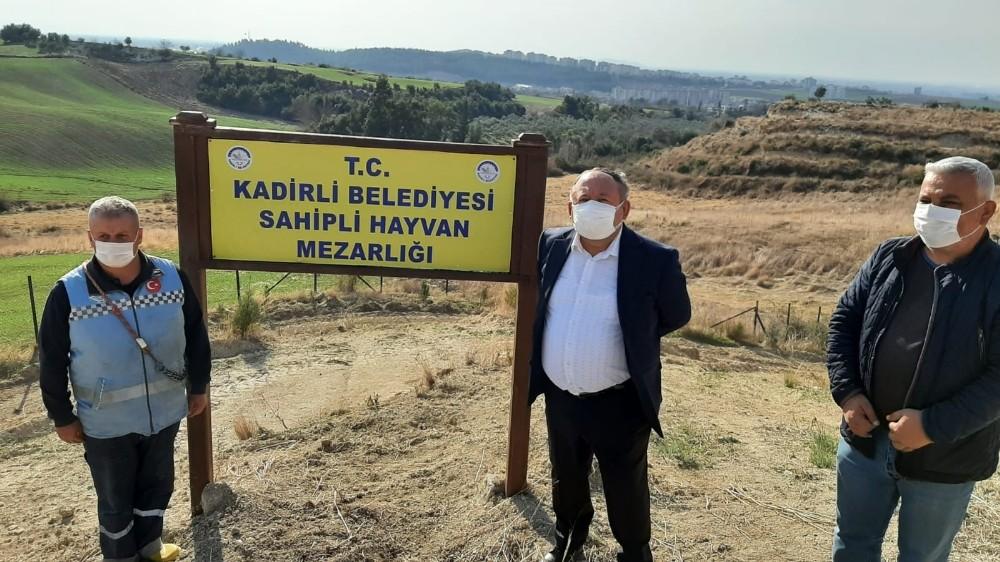 Kadirli'ye hayvan mezarlığı açıldı