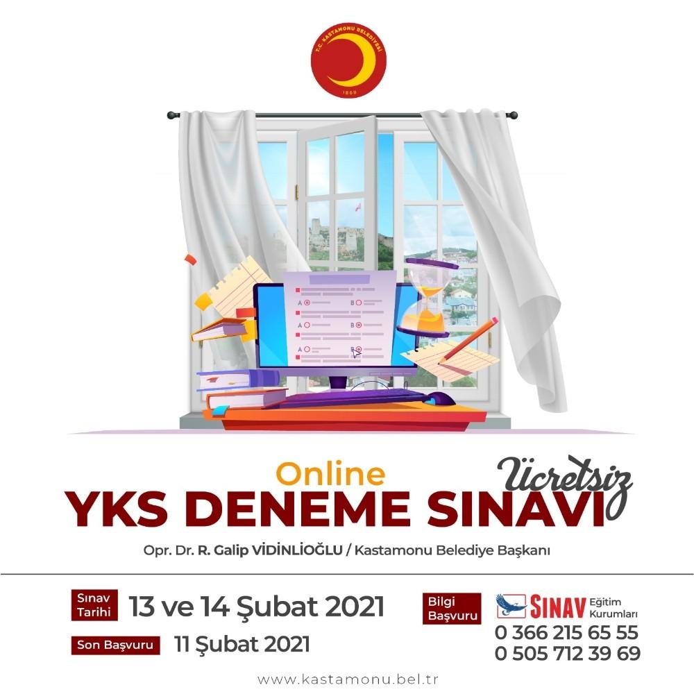Kastamonu Belediyesi öğrenciler için online deneme sınavı yapacak