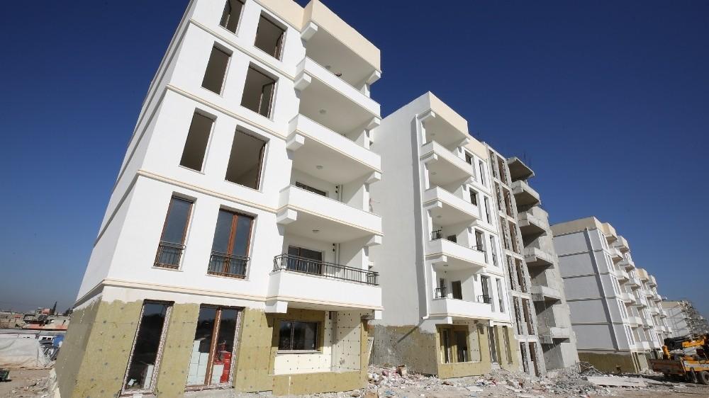 Kentsel dönüşüm alanında binalar yükseliyor