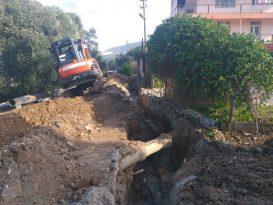 Milas Beçin'in ana şebeke hattı yenileniyor