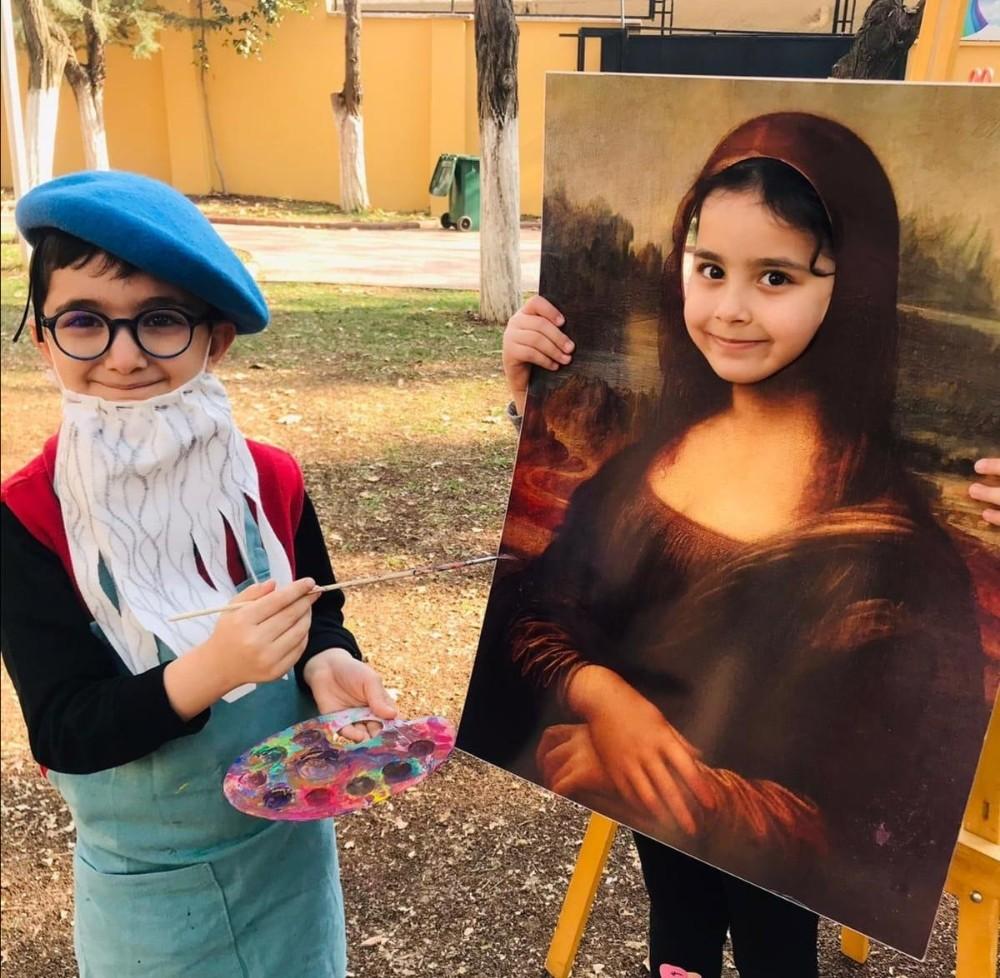 Minik ressamlar ünlü ressamların izinde