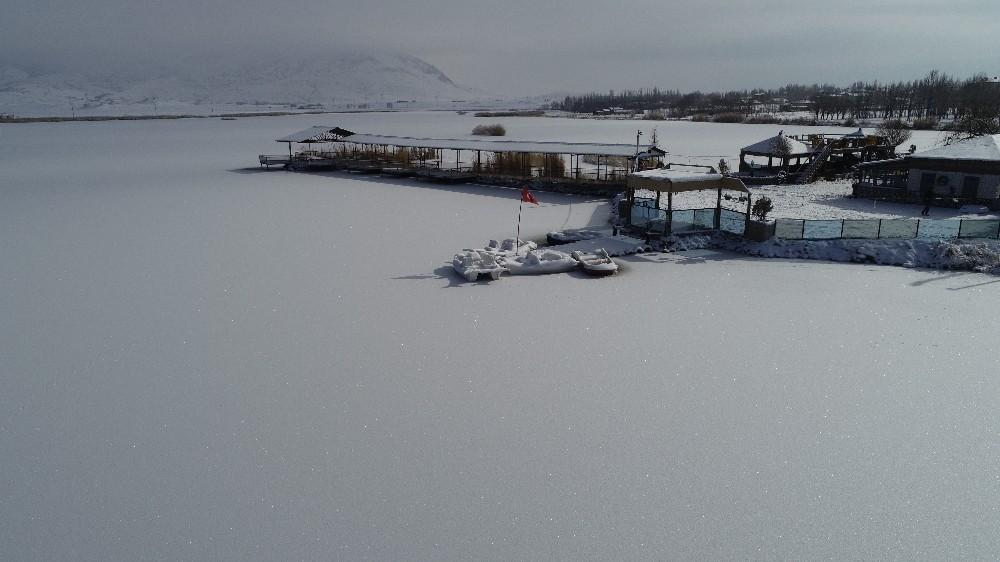 Sivas'ta Sibirya soğukları, Ulaş gölü dondu