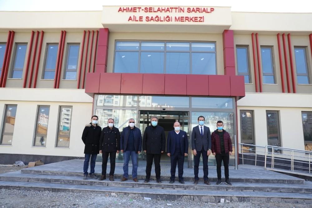Tınaztepe Mahallesi'nin aile sağlığı merkezi hızla tamamlanıyor