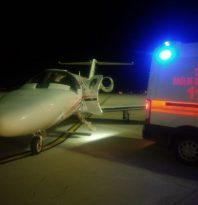 Uçak ambulans 2,5 aylık bebek için havalandı