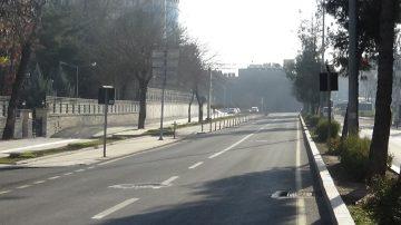 Yeni yılın ilk gününde Diyarbakır'da cadde ve sokaklar boş kaldı