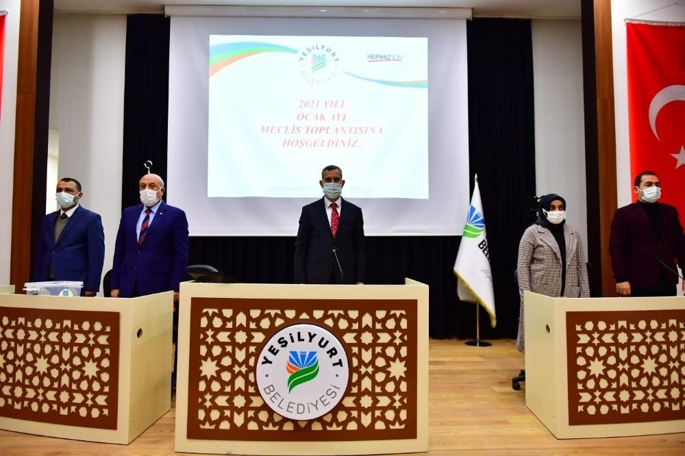 Yeşilyurt Belediye Meclisi, 2021'in ilk toplantısını yaptı