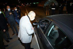 Yılbaşı gecesi görevdeki polislere moral ziyareti