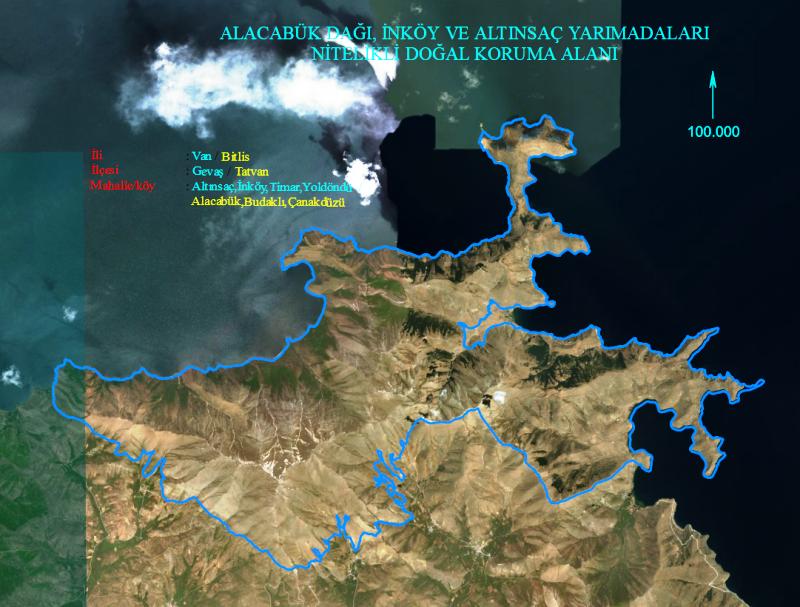 Alacabük Dağı, İnköy ve Altınsaç Yarım Adaları Doğal Sit Alanı Tescili